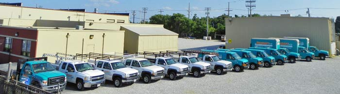 OTN's fleet of contractor trucks