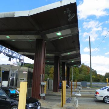 Toll Plazas before the Project, dingy and faded