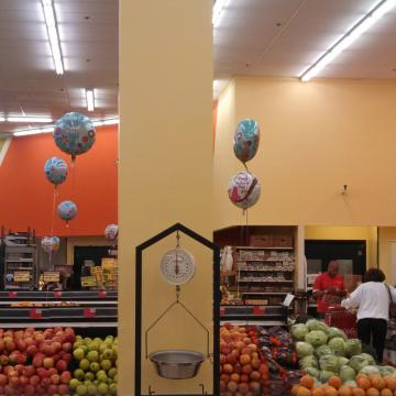 Colorblock Painting Grocery Store