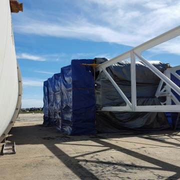 On-Site Containment Staged for Blasting & Coatings Project