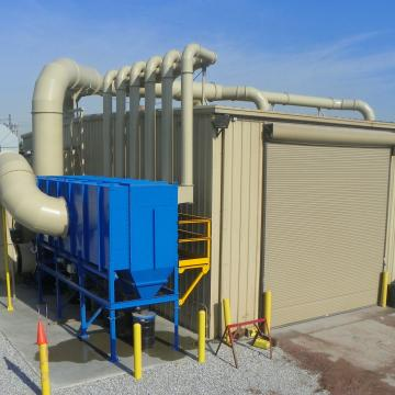 OTN's state-of-the-art30,000 CFM Dust Collector & the OTN Shop Blasting Booths.