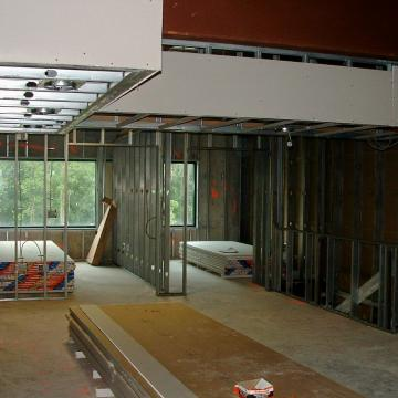 Framing out office expansion