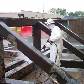 Pressure Washing Structural Steel