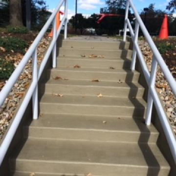 Stairs after repair & coating