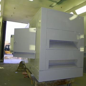 Large Generator following coating in environmentally controlled paint booth.