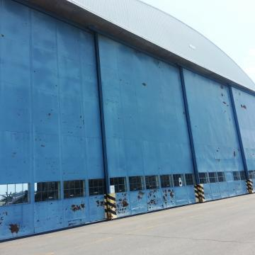 Heavily Corroded Hangar Doors before Coating