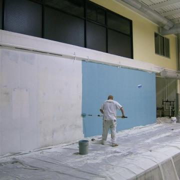 Coatings applied to accent walls.