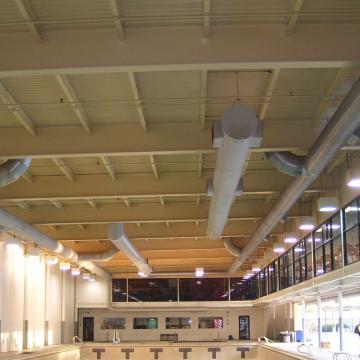Swim Club ceiling prior to coating.