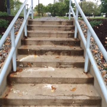Spalling & deteriorating concrete
