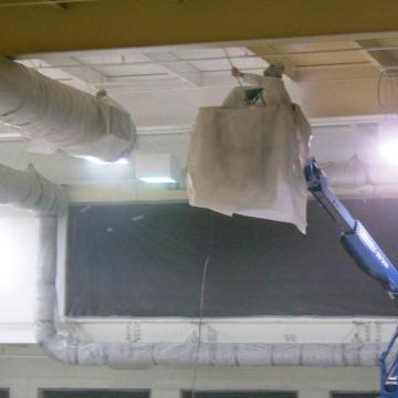 Ceilings coated in acrylic semi-gloss.