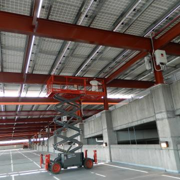 Coating the Structural Steel Supports of Parking Facility